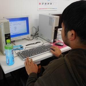 作業風景パソコン